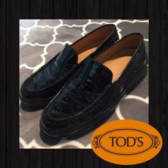 Tod's Patent Leather Driving Loafers  This is an amazing pair of Tod's driving loafers /moccasins that have only been worn a few times and are in excellent used condition...no scuffs or scrapes...just black & shiny!! Size 6.5 Tod's Shoes Flats & Loafers