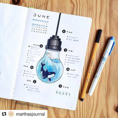 30 Under the Sea Themed Bullet Journal Layout Ideas - Bullet Journal School, Bullet Journal Inspo, Bullet Journal Notebook, Bullet Journal Aesthetic, Bullet Journal Spread, Bullet Journal Layout, March Bullet Journal, Bellet Journal, Kalender Design