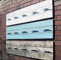 4 Foot Plank Coat Rack With Five Galvanized Boat Cleats