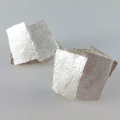 Reiko Ishiyama silver squares earrings