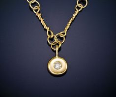 14kt recycled gold hand made link chain necklace by TheresaPytell, $945.00