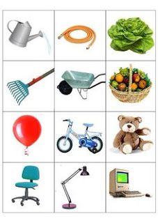 Autismus Arbeitsmaterial: Zuordnen: Orte und Objekte