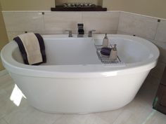 most comfortable freestanding tub. THE MOST comfortable tub EVER  Freestanding Miles Maxx Tub selected at Moore Supply Endsley Master Bath