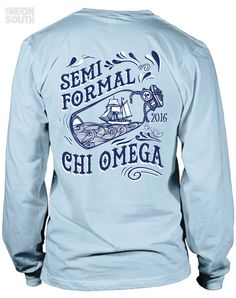 Fresh New Designs!! Visit our site to get your customized order started. Chi Omega | Semi Formal | Nautical | Ship in a Bottle | Sorority Shirts | Sorority Tees | Sorority Tanks | Greek Tees | Greek Tanks | Sorority Shirt Ideas | Greek Shirts