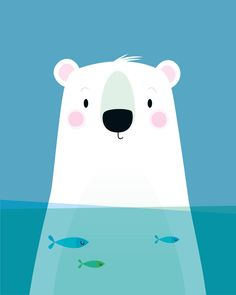 This simple Polar bear wall art is perfect for a nursery or any animal lover! Particularly suitable for an animal themed nursery. ***** This is a Fine Art giclée archival nursery print, its my original illustration and is signed on the reverse. Printed using Epson K3 inks Nursery Wall Decor, Nursery Prints, Nursery Art, Themed Nursery, Polar Bear Illustration, Cute Illustration, Baby Boy Gifts, Baby Shower Gifts, Shower Baby