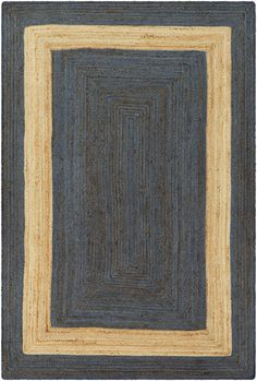 Surya Rug #    BIC-7013. Reversible,Braided Texture,Undyed  Color (Pantone TPX): Dark Blue(18-4027), Beige(13-1008)  Available in 6 colors