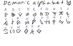 Demonic alphabet cool huh