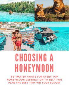 So wählen Sie ein Hochzeitsreiseziel nach Budget: Was Sie für Ihre Flitterwochen in den Top How to choose a honeymoon destination by budget: what to expect for your honeymoon in the top 10 luxury travel destinations # Top 10 Honeymoon Destinations, Honeymoon On A Budget, All Inclusive Honeymoon, Bali Honeymoon, Honeymoon Vacations, Honeymoon Ideas, Romantic Vacations, Romantic Travel, Travel Destinations