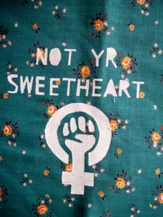 """Not yr sweetheart"" patch by nastynasty Etsy shop."