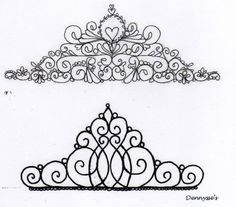 Tiara template for cake topper | YUMMY STUFF | Pinterest | Piping ...