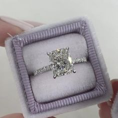 Radiant Engagement Rings, Beautiful Engagement Rings, Engagement Ring Cuts, Solitaire Engagement, Cute Engagement Gifts, Celebrity Engagement Rings, Perfect Engagement Ring, Engagement Ideas, Pretty Rings