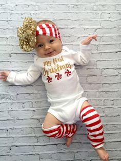 Hey, I found this really awesome Etsy listing at https://www.etsy.com/listing/255802001/baby-girl-christmas-outfit-bow-leg
