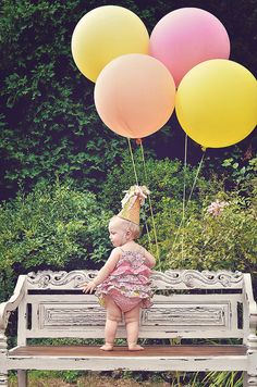 little baby big balloons 1st birthday  by jjagner, via Flickr
