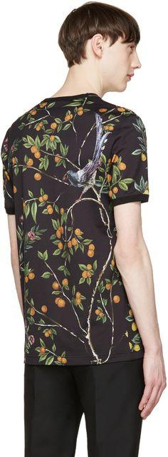Dolce & Gabbana - Black Floral Midnight T-Shirt