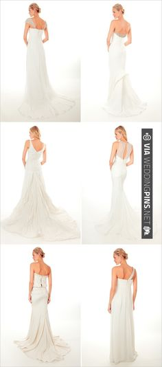 It's all about the back! Nicole Miller 2013 | CHECK OUT MORE IDEAS AT WEDDINGPINS.NET | #weddingfashion