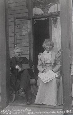 [Edvard and Nina Grieg at Troldhaugen] by Bergen Public Library, via Flickr