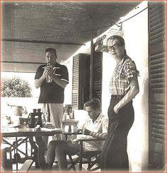 Errol Flynn, Sean Flynn and Patrice Wymore Flynn at home in Port Antonio, Jamaica