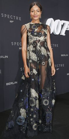 We're starry-eyed for Naomie Harris's premiere look—she reached for the stars for the Spectre premiere and delivered a celestial-themed embroidered sheer Valentino design that was truly out of this world.