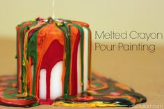 Dilly-Dali Art: Melted Crayon Pour Painting