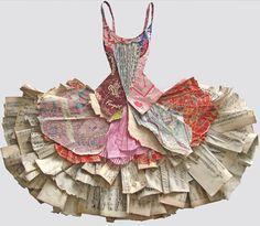 FOR SNOWA  -paper dress by Peter Clark ( Holland paper biennial 2010)