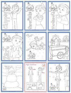 Elf On The Shelf Free Printable Coloring Pages