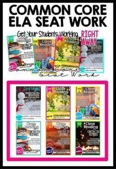 ELA Seat Work & Homework for 3-5th grades. This Bundle has it all! 6 sets that address Literary and Informational standards. Fall and Holiday are even formatted for common core homework, too. YOU NEED THIS!