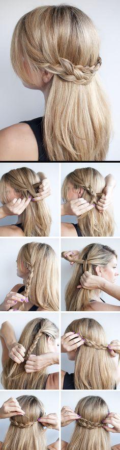 penteados bonitos com tranças