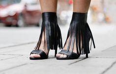 Fringe shoes
