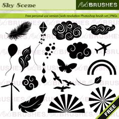 Free Photoshop Brushes – Sky and clouds set
