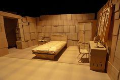 Cardboard Set - Bedroom | Images of one of the cardboard roo… | Flickr