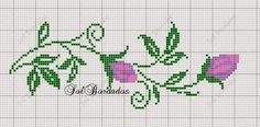 Gallery.ru / Фото #111 - GRÁFICOS!!! - nnetthynunes Mini Cross Stitch, Cross Stitch Rose, Cross Stitch Borders, Cross Stitch Flowers, Cross Stitch Charts, Cross Stitching, Cross Stitch Patterns, Blackwork Embroidery, Diy Embroidery