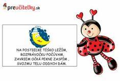 Na postieľke tíško ležím - preučiteľky.sk Ladybug, Children, Kids, Diy And Crafts, Teacher, September, Jar, Pictures, Young Children