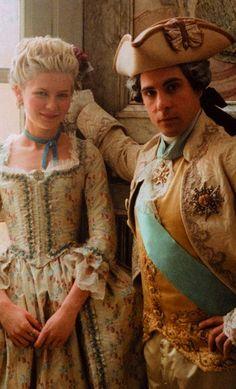Kirsten Dunst and Jason Schwartzman in Marie Antoinette. Costume Designer: Milena Canonero.