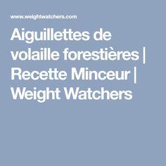Aiguillettes de volaille forestières   Recette Minceur   Weight Watchers