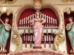 Pipe organ with carving
