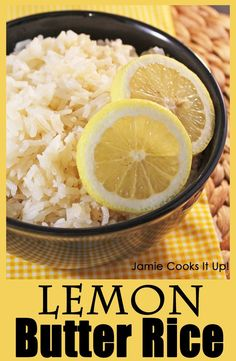 Lemon Butter Rice from Jamie Cooks It Up! This flavorful rice pairs perfectly with chicken or fish.