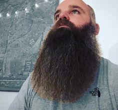 Our friend Roger from the UK has a wonderful thick full beard and a heart of gold. Bald With Beard, Full Beard, Epic Beard, Beard Love, Hairy Men, Bearded Men, Awesome Beards, Beard Balm, Male Face