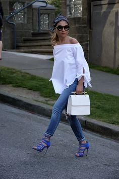 Off-the-Shoulder Blouse! | Aurela - Fashionista