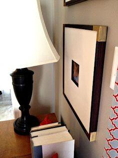 Gold Corners on Frame Using Rub n' Buff | Richmond Thrifter