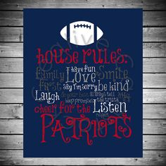 New England Patriots House Rules - INSTANT Digital Copy by CreativeCardstock on Etsy (null) Giants Baseball, Patriots Football, My Giants, Indians Baseball, Baseball Jerseys, Baseball Scores, Royals Baseball, Angels Baseball, Baseball Training
