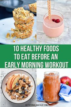 What to eat before an early morning workout, especially if your stomach can't tolerate much food. Easy to digest options that will power you through an early morning workout. #fuel #earlymorningfuel Nutrition For Runners, Nutrition Plans, Nutrition Tips, Healthy Foods To Eat, Healthy Recipes, Orange Juice Smoothie, Runners Food, Smoothie Prep, Early Morning Workouts