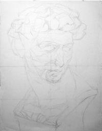 石膏デッサン-メディチの鉛筆デッサン制作過程2 Map Art, Art Inspo, Anatomy, Portrait, Drawings, Color, Sketch, Headshot Photography, Colour