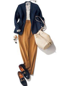 If you want a balance between feeling and femininity, this season's jacket x pants style – Women's Style Office Fashion, Work Fashion, Fashion Pants, Hijab Fashion, Fashion Outfits, Womens Fashion, Casual Work Outfits, Office Outfits, Fall Outfits
