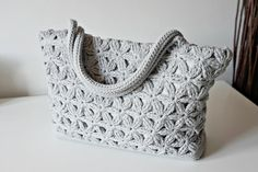 (4) Name: 'Crocheting : Star Bag