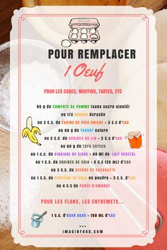 remplacer l'œuf en patisserie - Excel Tips about you searching for. Detox Recipes, Raw Food Recipes, Veggie Recipes, Vegetarian Recipes, Healthy Recipes, Organic Cooking, Natural Detox, Foods With Gluten, Healthy Baking