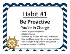 Use these posters to decorate your classroom with the Seven Habits.