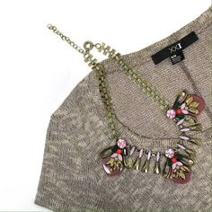 Glam statement necklace Autumn bug Prefect color scheme for fall weather approaching // brand new un worn // brand new in original packaging // Glam statement necklace Karis' Kloset Jewelry Necklaces