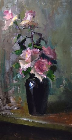 The Very Thought of You by Kelli Folsom Oil ~ 24 x 12 #OilPaintingOleo