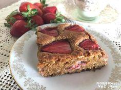 Strawberry Coconut Slice (gluten free, dairy free)