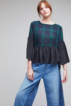 Shop the Glendale Plaid Frill Top and more Anthropologie at Anthropologie. Read reviews, compare styles and more.